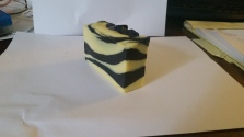 Beeswax Striped Soap Side One